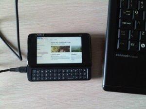 Koneksi Internet N900 dan Notebook